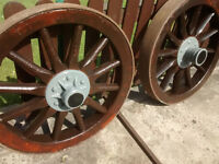 Wooden Railway carriage wheels