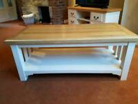 Ivory / Oak Solid Coffee Table (Matching TV Unit also for sale)