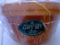 Gardeners gift still in wrapper