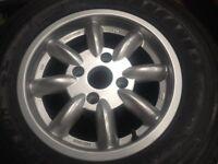 Single Triumph Stag Minator Alloy wheel 6 x 14