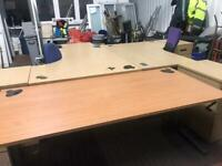 1800mm x 800mm Straight Height Adjustable Desk Beech