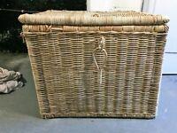 Wicker linen/ laundty basket, large. Used.