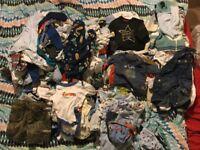 0-3 months baby boy clothes bundle