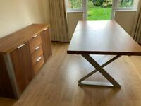 6-Seater Dining table (Extendable to 8) and matching side table