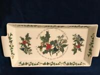 Portmeirion Holly & Ivy Christmas platter