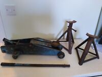 Car jack and axle stands