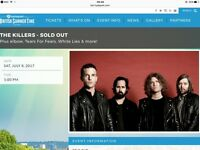 2 x The Killers tickets, Hyde Park British Summer Time 8th July 2017