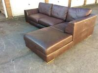 Excellent Quality M&S REAL leather sofa, was £2500