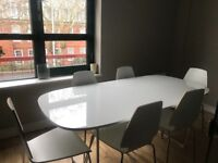 Ikea dining / meeting table and 6 chairs