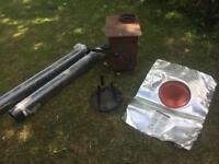 Wood burning stove kit