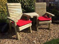Wooden Garden Furniture , Connecting Chair Set. Garden Chair. Love Seats , Seats