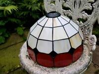 Vintage Tiffany style glass lightshade
