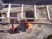 Boat ladder and boat bilge pump