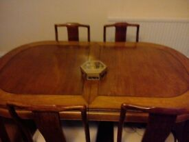 Genuine Chinese Dining table and 5 chairs