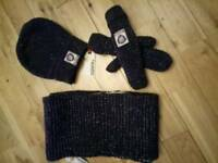Hat scarf gloves by superdry brand new