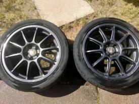"Subaru impreza P1 prodrive 17"" alloys+tyres"