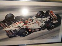 "Sports Memorabilia - Nigel Mansell ""Record Breaking Rookie"" Framed Print"