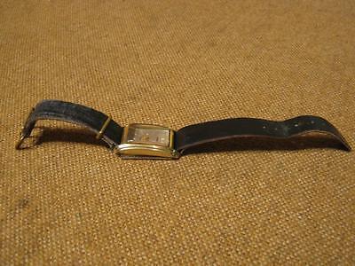 "███►alte Armbanduhr mit Lederband "" GUB - Kal. 662,2 """
