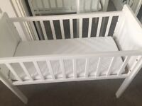 Mothercare baby crib with mattress