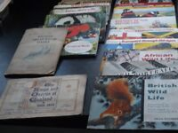 COLLECTION OF 17 ALBUMS OF TEA AND CIGARETTE CARDS. MOST ALBUMS CONTAIN COMPLETE SETS