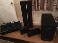 Surround sound and DVD player
