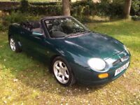 1996 P reg, MG MGF 1.8 VVC SE 2dr Convertible, 137000 Miles, 8 Months MOT (With no advisories)