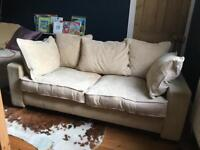 House of Fraser 3 seater Sofa - biscuit/ gold/beige