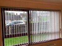 Vertical blinds, width 93 in length 50.5 in
