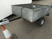 4ft box tow trailer with built in lights other small WOODEN trailer for sale as well