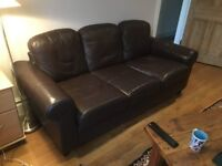 Leather sofa, good condition 190cm long. No marks, no pets, non-smoking home