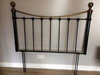 Black & Brass effect double head board