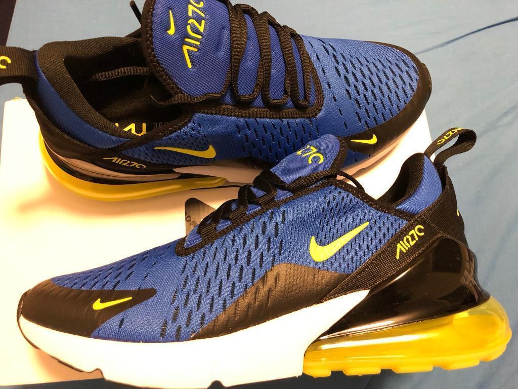 2e7185c155d389 Nike AirMax 270 Size 6 Game Royale Blue Yellow