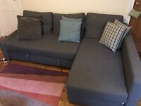Corner Sofa Bed, IKEA FRIHETEN, and Footstool. Both Excellent Condition