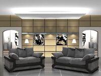 Brand new Dino sofas 3+2 black & grey or brown & beige