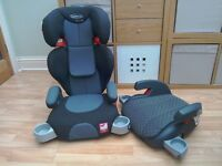 Children's Graco car seat age 3-12 years and Britax booster seat, excellent condition