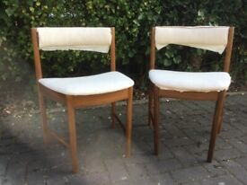 Pair of Mcintosh Retro teak dining chairs