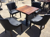 JOBLOT OF RESTAURANT DINING TABLE & CHAIRS 80X CHAIRS