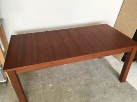 Stylish very solid Habitat cherry wood, wooden solid dining room table, desk