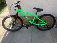 Green XRATED BMX bike