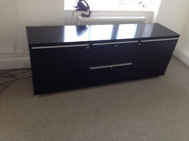 office sideboard cabinet black Ikea with drawer shelve