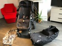 Bugaboo Cameleon 3 Black Pushchair Chassis & Tailored Fabric Set - Black