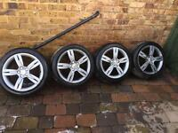 """GENUINE SEAT IBIZA SPORT ALLOY WHEELS AND TYRES 5x100 16"""" 205 45 16 6L0601025J"""