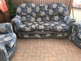 3 piece fabric sofa free
