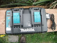 Double Makita Rapid Charger 7.2v - 18v Lithium Li Ion NiCd NiMh Battery! £49 No offers!