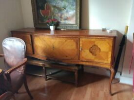 Antique side table cabinet/ console