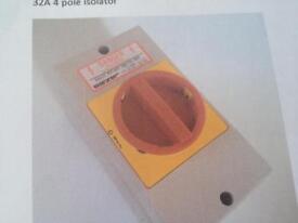 Isolator - 32A 4 pole 415v box of 30