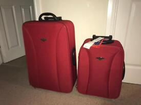 2 x Red Suitcases / Luggage Set BRAND NEW