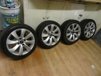 set of 4 STUD FORD ALLOYS NEW TYRES £200 also 4 sets transit connect alloys new tyres £175-£225