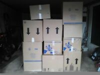 Storeage boxes, cardboard packing or removal crates