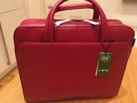 KNOMO Laptop Bag, Brand New, Leather, With tags RRP £150+